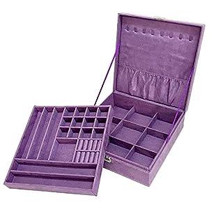 Sodynee Watch Box Large 12 Mens Black Pu Leather Display Glass Top Jewelry Case Organizer