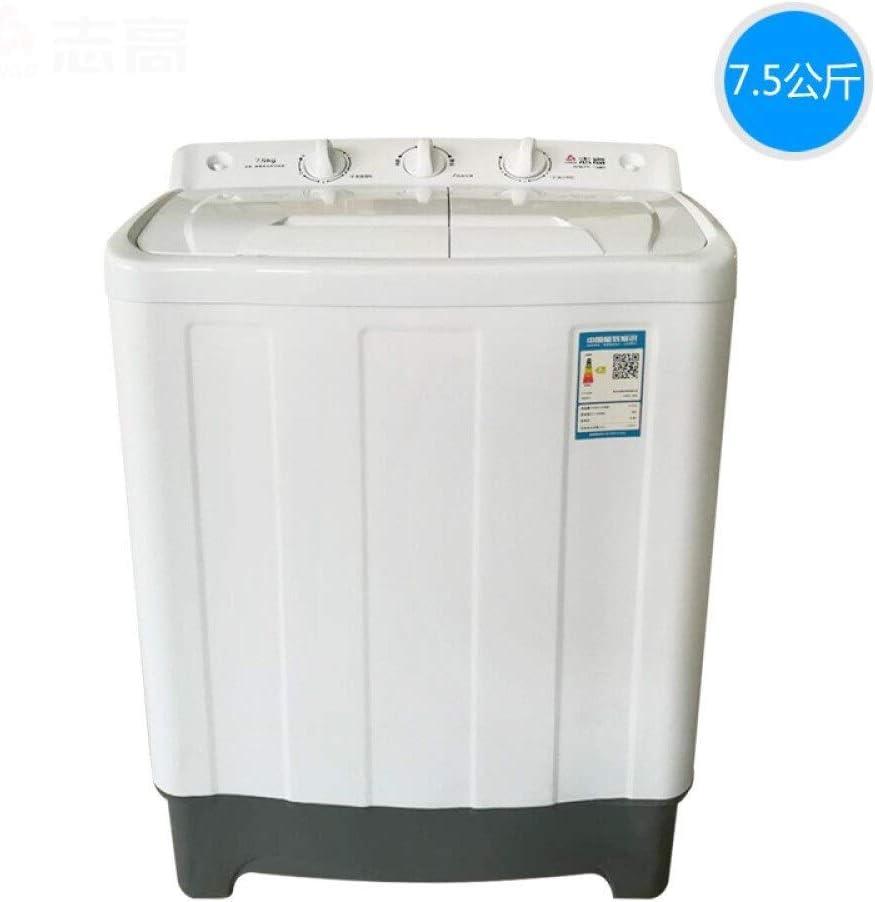 Lavadora 8,5 kg Semi-automático de Masa Doble cañón Gemelo de pequeña doméstica máquina de Secado por centrifugación (Color : 11kg)