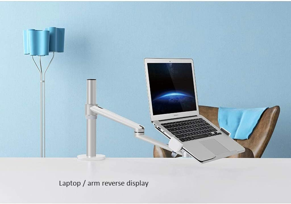 Color : Black Ergonomic Lifting Swivel Stand Rotary Lift Monitor Stand Aluminum Alloy Monitor Stand Black Silver-Laptop Computer Can Also Be Used 12-31