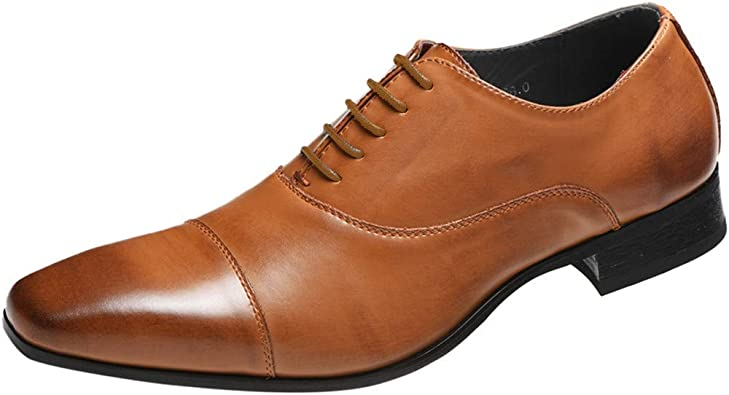 Homme Grande Taille Casual Chaussures Bluestercool Britanique Style Chaussures Hommes Chaussures daffaires Chaussures de Ville /à Lacets