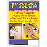 Small Parts Flexible Magnet Squares with Adhesive, 1/16-Inch Thick, 1-Inch Wide, 1-Inch