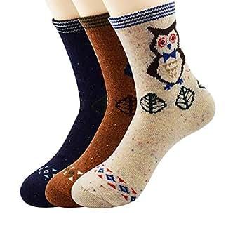 Zando Womens Super Thick Merino Ragg Knit Warm Wool Crew