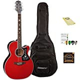 Takamine GN75CE WR-KIT-1 NEX Cutaway Acoustic-Electric Guitar with ChromaCast Gig Bag and Accessories, Wine Red