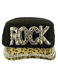 2Chique Boutique Women's Aurora Stone Leopard Print Hat