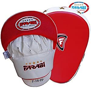 Boxing focus pads hook jab mitts boxing training pads mma kickboxing pad made of synthetic leather