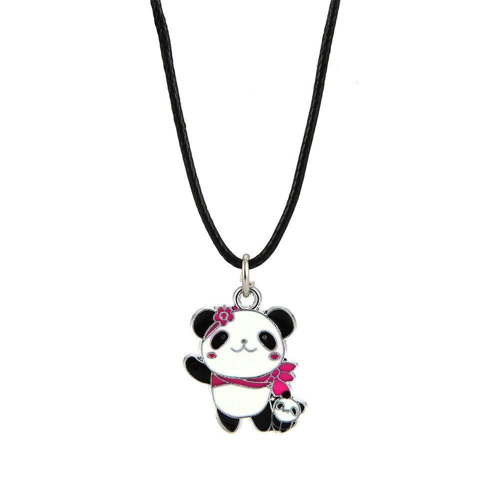 Lureme Lovely Panda Necklace with Black Cord for Women and Girls (nl005742) Yida nl005742-6