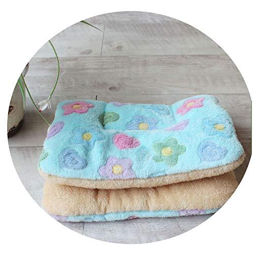 Winter Warm Dog Bed Soft Fleece Pet Blanket Cat Litter Puppy Sleep Cushion,Flower,67x48cm