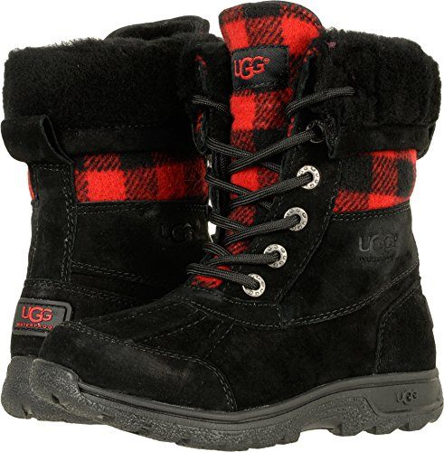 UGG Little Kids Butte II Plaid Boot Redwood Size 12 Little Kid M (Kids Ugg Size 12)