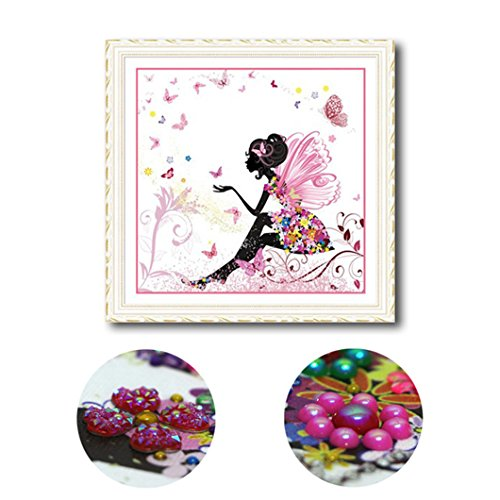 Mazixun 5D Special Shaped Diamond Painting Fairy Cartoon DIY Diamant Schilderen Hobby Muur Stickers Embroidery Bead Patterns 40x40cm