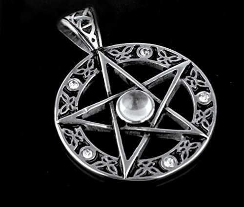 Enking Jewelry Vintage Style Pentacle Pentagram Stainless Pendant Necklace for Men 1pc(Color May Vary)
