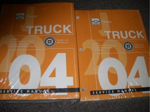 2004 Chevrolet Chevy Geo Tracker Service Manual Set OEM (3 volume set)
