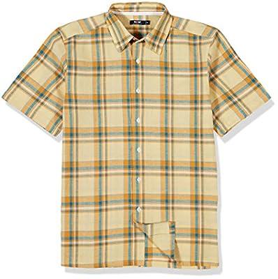 Isle Bay Linens Men's Short Sleeve Plaid Standard Woven Shirt