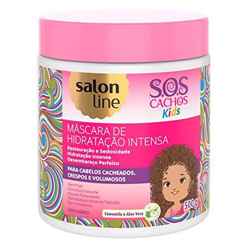 Linha Tratamento (SOS Cachos) Salon Line - Mascara Kids 500 Gr - (Salon Line Treatment (SOS Curls) Collection - Kids Intensive Moisturizing Mask Net 17.65 Oz)