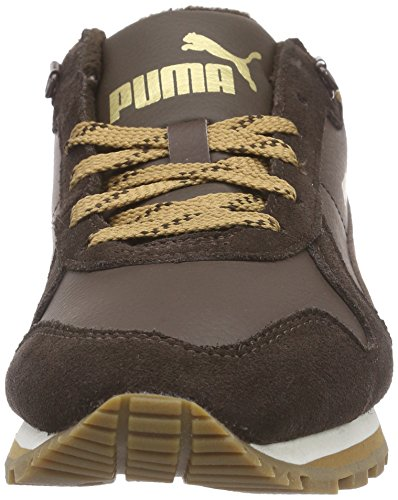 Puma ST Runner Demi Winter - zapatilla deportiva de piel Unisex adulto marrón - Braun (chocolate brown-chocolate brown-chipmunk brown 04)