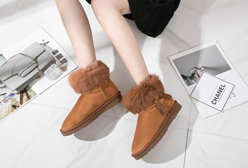 ... Stiefel KUKI Damenstiefel, Winter, koreanische Version, Schneeschuhe,  warm, kurze Röhre, Stiefel ...