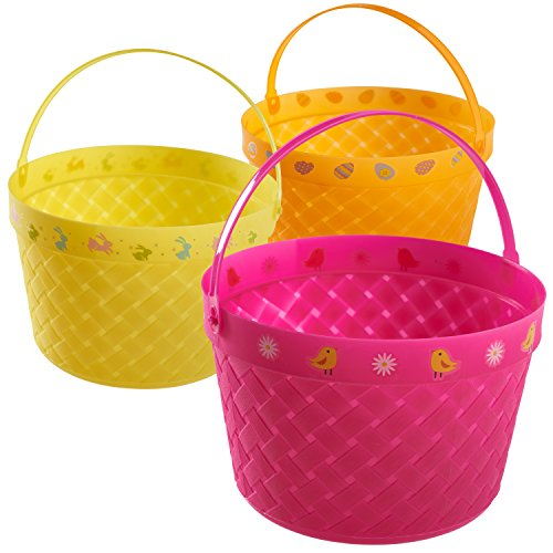 Prextex-Easter-Eggs-Basket-Great-for-Easter-Egg-Hunts-and-Easter-Eggs-Festival