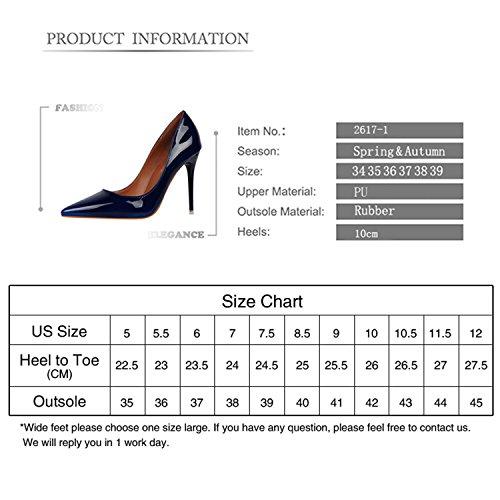 Delle Zapatillas Marchio Centimetri Royal Scarpe In Alto Mujer Blu Size34 z 10 39 Pompe Vernice Delle Rosso Donne Tacco Gome Femminili Supersexy Nuove Verdi n4AgqRWwq