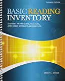 Basic Reading Inventory Student Book, Jerry Johns, 0757598544