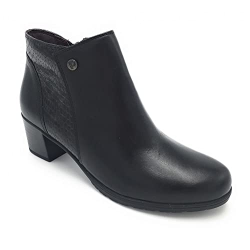 Pitillos 5249 botín tacón Medio Combinado Negro: Amazon.es: Zapatos y complementos