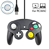 Mekela 5.8 feet Classic USB wired NGC Controller Gamepad resembles gamecube for Windows PC MAC (USB Black) For Sale