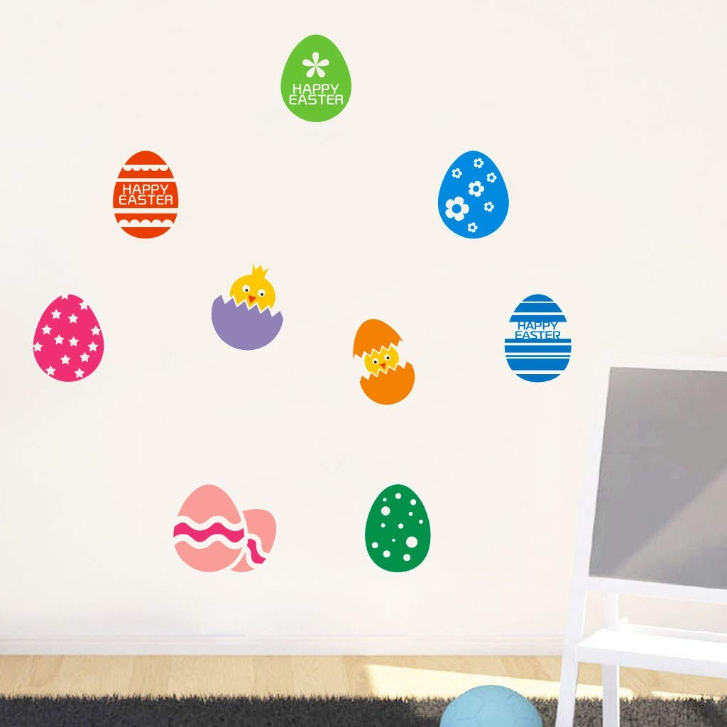 Wall Decals Clearance , Happy Easter Rabbit Vinyl Decal Art Wall Sticker DIY Home Room Decor  by Little Story by Little Story (Image #1)