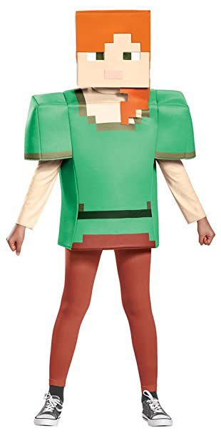 girls halloween costume minecraft alex classic kids costume large 10 12