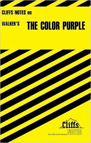 Amazon.com: The Color Purple (Cliffs Notes) (9780822003083): Gloria ...