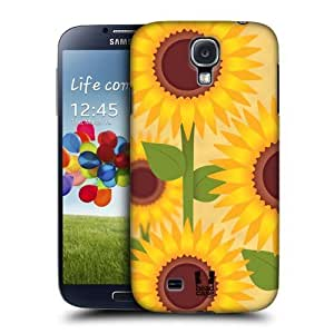 AIYAYA Samsung Case Designs Sunflower Romantic Flowers Protective Snap-on Hard Back Case Cover for Samsung Galaxy S4 I9500