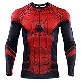 YUNYIYIS Men's Super-Hero Compression Sports Fitness Elastic T-Shirt Quick-Drying Running ZZ-long-1098-3XL