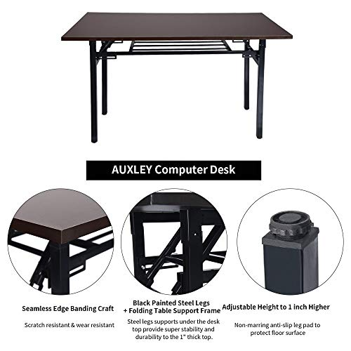 Sonmer 44''×24'' Folding Computer Desk, One-Step Assembly,Double Layer,Home Simple Learning Conference Desk by Sonmer (Image #5)