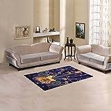"D-Story Sweet Floor Decor Grunge Funky Music Note Guitar Area Rug Carpet Floor Rug 2'7""x1'8"" For Living Room Bedroom"