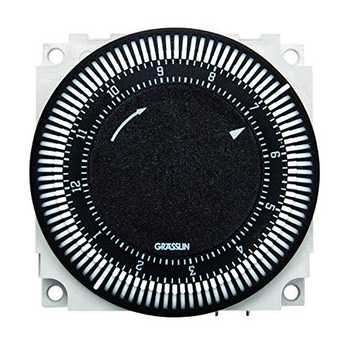 Grasslin by Intermatic FM1S12HU-120U 12-Hour Electromechanical Timer CONTROL Module, 21A, SPDT, with O CLOCKFACE