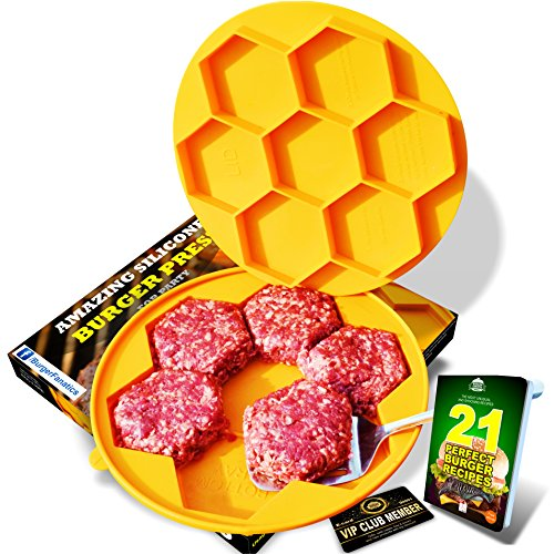 Burger Fanatic Burger Press with Non Sticking Surface and Ebook