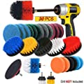 JUSONEY Drill Brush Scrub Pads 30 Piece Power Scrubber Cleaning Kit - All Purpose Cleaner Scrubbing Cordless Drill for Cleaning Pool Tile, Sinks, Bathtub, Brick, Ceramic, Marble, Auto, Boat