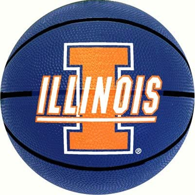 Logo Brands NCAA Illinois Illini Unisex Mini-Size Rubber Basketball Brown