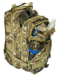 Survivor Filter Tactical Hydration Hiking and Emergency Waterproof Backpack PLUS Reservoir - All Custom Designed with Padded Shoulder Straps, Industrial Strength Zippers, Buckles, D-rings and More.