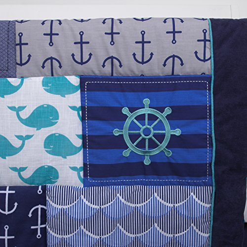 Nautica Kids Set Sail Nautical/Anchor/Whale 4 Piece ...