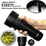 GTIA LED Most Powerful Flood LED Seach Flashlight IPX-8 Waterproof LED Flashlight OLED Display Torch Light