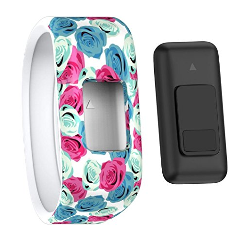 For Garmin vivofit JR Watch, Replacement Wrist Band Silicon Strap Clasp For Garmin vivofit JR Watch,Large/Small,Women/Men,New Style (Color A, Small)