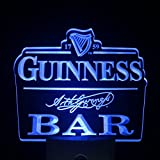 L'amazo Guinness Bar Beer Home Bar Room Decor Day/Night Sensor Led Night Light Sign (BLUE) (Blue)
