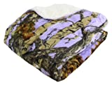 "REGAL 50"" x 70"" Sherpa Luxury Throw Blanket - The Woods' Lavender Camo by Regal Comfort"