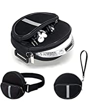 Portable CD Player Holder with CD Case, Water Resistant Fanny Pack with Wrist Strap for Women & Men (6.5inch).