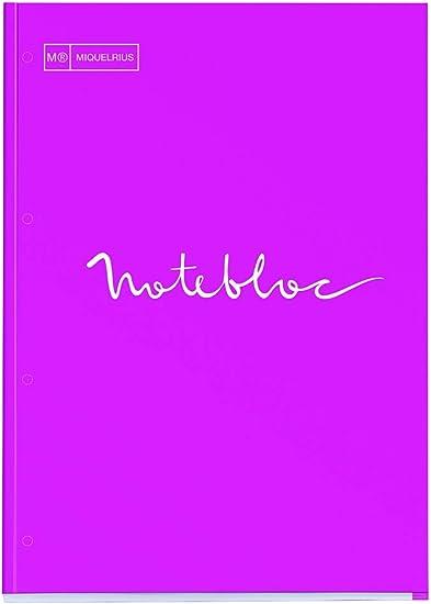 Miquelrius - Bloc recambio hojas cuadriculadas A4, Emotions Magenta - 80 hojas 1 Color: Amazon.es: Oficina y papelería