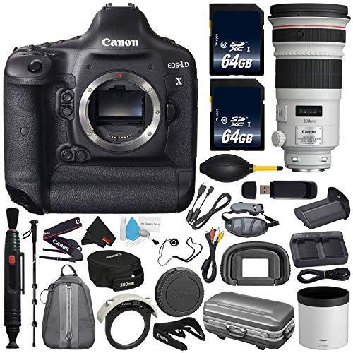 Canon 6Ave EOS-1D X DSLR Camera International Version (No Warranty) EF 300mm f/2.8L is II USM Lens + Battery Grip + LP-E6N Replacement Lithium Ion Battery Bundle