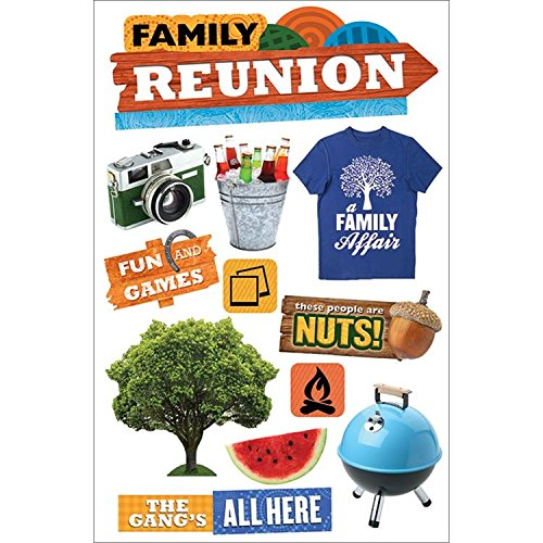 最先端 Paper (3-Pack) House Productions STDM-0236E 3D 3D STDM-0236E Cardstock Stickers, Family Reunion (3-Pack) by Paper House Productions B00U8FXK90, habitchildrenハビットチルドレン:daf5cd2c --- mvd.ee