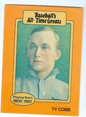 Ty Cobb Baseball Card Detroit Tigers Hall Of Famer Baseball Greats