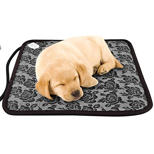 NICREW Pet Heating Pad, Electric Warming Mat for Dogs and Cats with Adjustable Temperature Switch, 17.7 x 17.7-Inch by NICREW