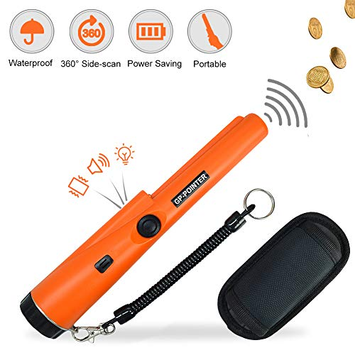 Metal Detector Pinpointer for Kids and Adults with Belt Holster Water Resistant Waterproof Handheld Treasure Hunting Tool