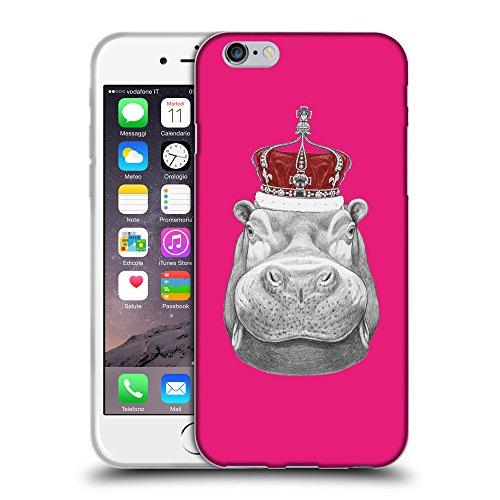 "GoGoMobile Coque de Protection TPU Silicone Case pour // Q05260616 hippopotame Rose pétant // Apple iPhone 6 PLUS 5.5"""