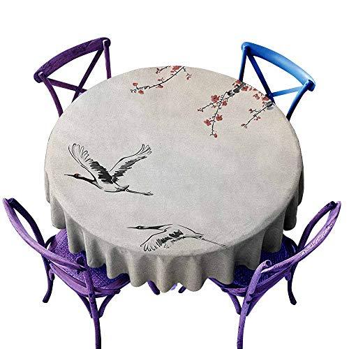 Bavarian Cherry Finish - familytaste Birds,Round Tablecloth D 50